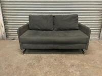 FREE DELIVERY GREY FABRIC 2 SEATER SOFA BED GOOD CONDITION