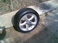 BMW WHEEL WITH GOOD RUN FLAT TYRE 5mm of tred