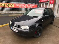 VOLKSWAGEN GOLF 1.4 COMES WITH 3 MONTHS WARRANTY AND 12 MONTHS MOT
