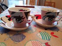 Pop art espresso cups