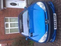 Mediterranean Blue Peugeot 206cc low milage for reg plate, private reg, great little car £450 ono