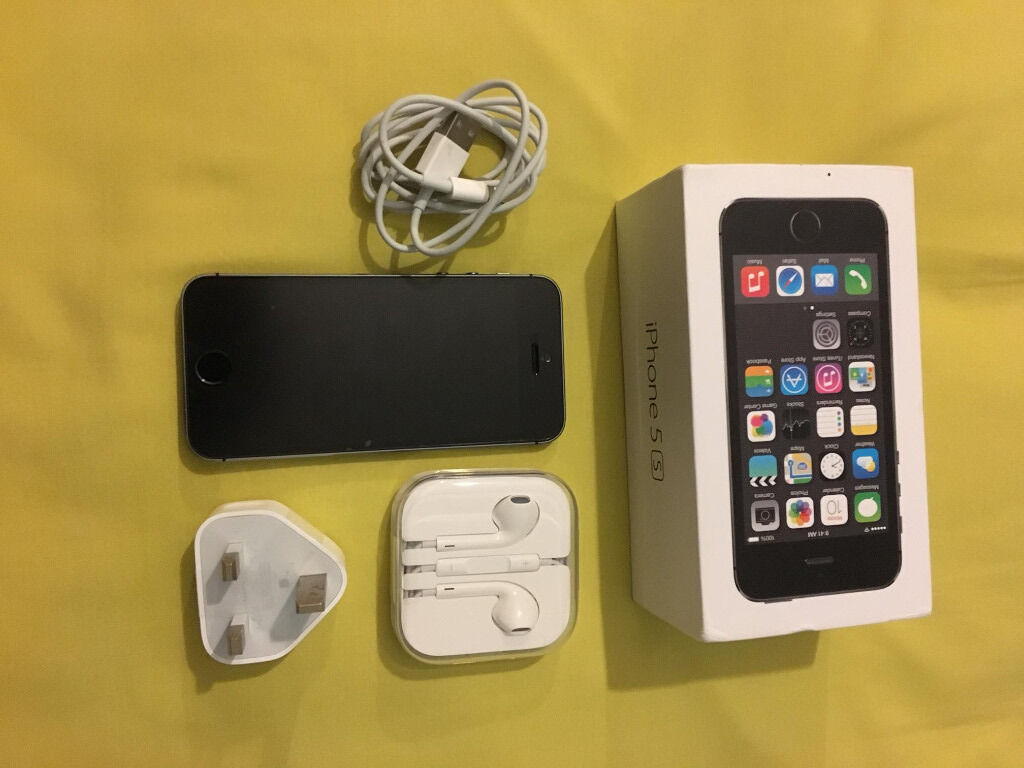 iPhone 5SNew Conditionin Chorleywood, HertfordshireGumtree - Hi I am selling IPhone 5s 16gb Black slate grey colour.This phone has Excellent condition. On Vodafone, also works on Lebara. Not a single mark or scratch. Iphones 5S Accessories. 1xBox 1x Handset 1x Headphones 1x Charger 1x Data cable 2x Screen...