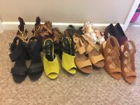 Selection of shoes flats and high heels