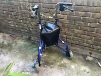 Days Lightweight Aluminium Folding 3 Wheel Tri-Walker With Lockable Brakes