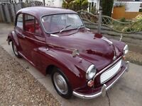 MORRIS MINOR 1000. GENUINE 42000 MILES FROM NEW. ONE OWNER FOR THE LAST 40 YEARS. MOT OCTOBER 2108.