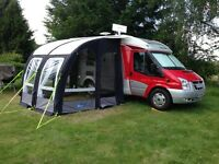 Hymer 522 Motorhome. with Air Awning, Scooter Rack and 2014 Honda PCX125 Scooter