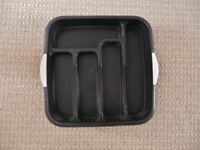 Matalan Black Speckle Plastic Cutlery Tray / Kitchen Drawer Organiser / Tidy / Storage Rack