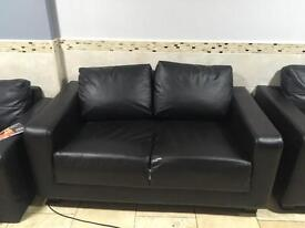 2 seater leather sofa - 7 availability Rrp £175