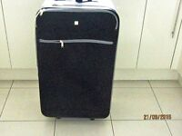 SUITCASE Beverley Hills Polo Club large Soft Black and Silver Case