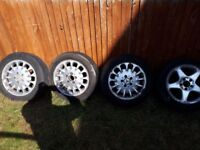 Mercedes Benz Wheels 205/55 16. 3 very very good tyres. Wheels in average condition.