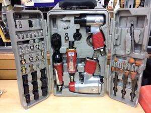 Ensemble 4 outils pneumatiques Mastergrip + accessoires #P025701