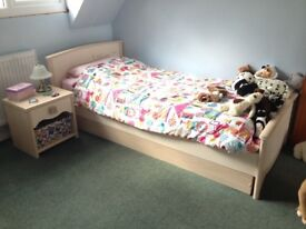 Children's bed and bedside table