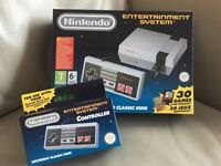 BRAND NEW NINTENDO CLASSIC MINI ENTERTAINMENT SYSTEM (NES) PLUS EXTRA CONTROLLER