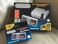 BRAND NEW NINTENDO CLASSIC MINI ENTERTAINMENT SYSTEM (NES) PLUS EXTRA CONTROLLER