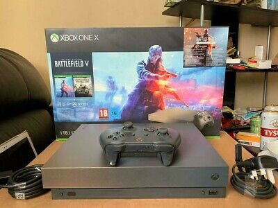 Microsoft Xbox One X 1TB Gold Rush Special Edition Battlefield V Console Bundle