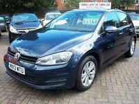 Volkswagen Golf 1.4 TSI SE 5dr (start/stop) 2013 (13 reg), Hatchback, BLUE, 1 OWNER FROM NEW