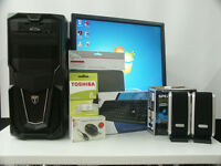 Home Office PC Computer Bundle Intel Core 2 Duo 4Ghz 4GB RAM 250HD Win 7 from £85 (48A)