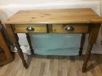 Pine Wooden Console Table/Desk