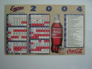 coca cola/expos magnetic 2004 schedule