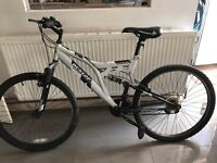 """26"""" DUNLOP DS 26 SPECIAL EDITION SILVER / BLACK 26 INCH MOUNTAIN BIKE UNISEX 18 SPEED"""