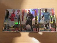 3 X 100 Club Match Attax Cards (Used)