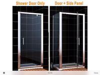 Shower door with side panel brand new