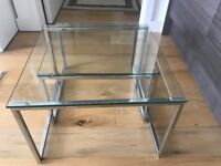 Set of 2 Glass Tables