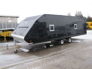 2017 Mission Trailers 22' Aluminum Snowmobile Trailer