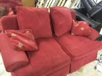 free sofas x 2 red.
