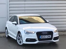 2013 Audi A3 2.0 TDI S Line 4dr (start/stop) saloon white**cheapest on net