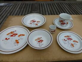 vintage royal doulton fieldflower set