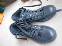 SC&CO California Black ankle trainers size 5.5 (EUR 36.5)