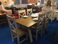 Designer Dining Table & 6 Dining Chairs, GREAT FOR XMAS 2017
