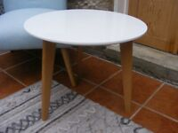 White Gloss Side Table - Brand New