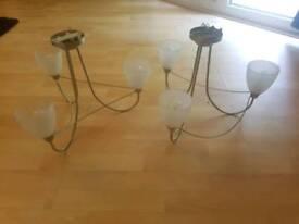 Pair of flush ceiling lights
