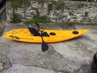 FatYak Kaafu Kayak, includes Crazy Creek III SOT Seat. Plus Paddle. Fat Yak Sit On Top Kayak. Extras