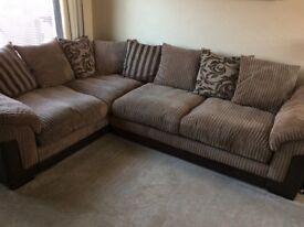 DFS Brown corner sofa