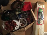 5ft Xmas Tree with box full of Decorations