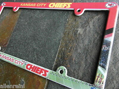 1 Kansas City Chiefs EZ View PVC Auto Truck License Plate Frame 1 Kansas City Chiefs Framed