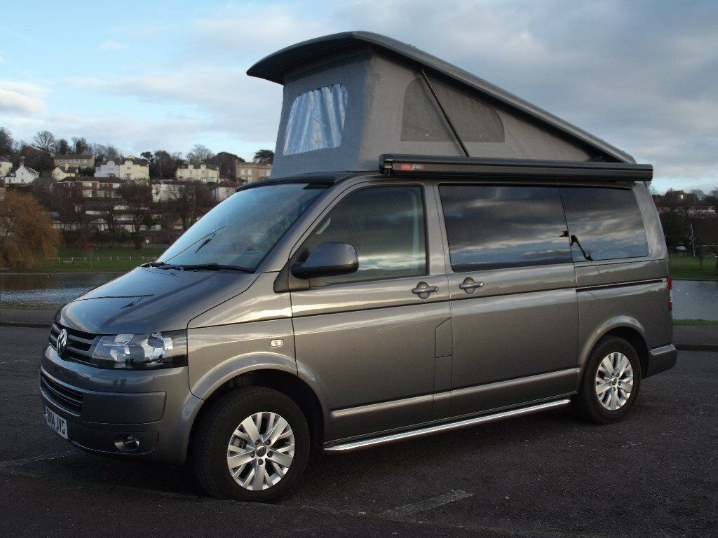 VW T5 Campervan 14 Plate Pop Top Great Conversion With Fiama Awning Bike Rack