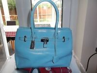 JASPER CONRAN HANDBAG BAG LIGHT BLUE