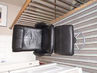 Ikea Mallung reclining chair and footstool