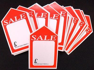 """SALE CARDS PACK OF 50 SMALL RED & WHITE BLANK CARD 4"""" x  6""""  LIMITED AMOUNT"""