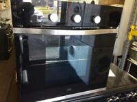 Black Cooke & Lewis 60cm by 60cm integrated electric grill & fan oven good condition with guarantee