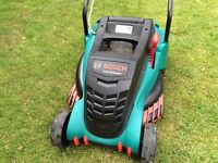 Lawnmower Bosch Rotrak 40 Ergoflex 40cm wide cutting £140 New - hardly used and in Great condition