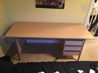 3 Drawer Office Desk - Excellent Condition