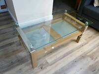 Glass coffee table (used)