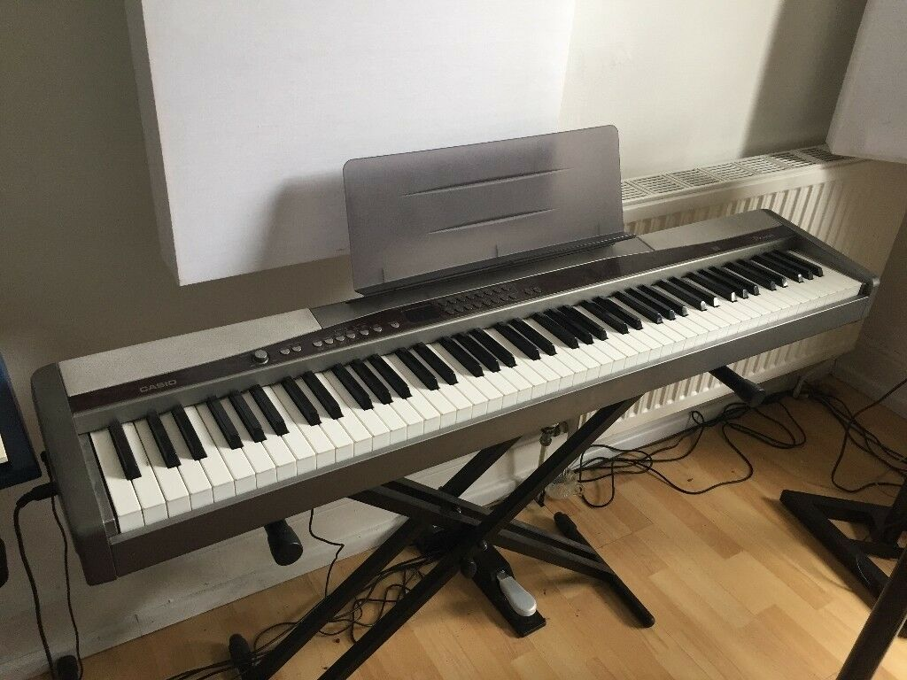 casio privia px 500l electric digital piano fully working with music stand original power. Black Bedroom Furniture Sets. Home Design Ideas