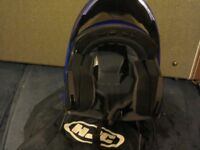 flip front m\cycle helmet. small size. as new.