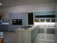 Ex-Display, German Manufactured kitchen in Aqua and Sherwood Oak